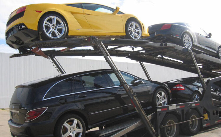 How to transport car in UK in Enclosed car trucks